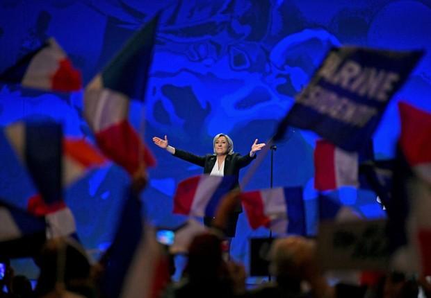 Marine Le Pen, líder de extrema-direita na França (Foto: Jeff J Mitchell/Getty Images)