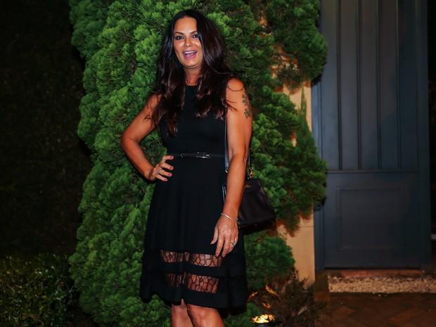 Luiza Brunet em festa em São Paulo (Foto: Manuela Scarpa/ Brazil News)