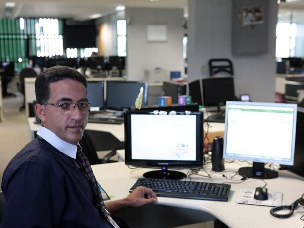 José Geraldo Sabino dos Santos, que está detido na Papuda e trabalha no Supremo durante o dia (Foto: Carlos Humberto / SCO / STF)