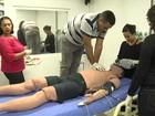 Profissionais de saúde são treinados para trabalhar em arenas olímpicas