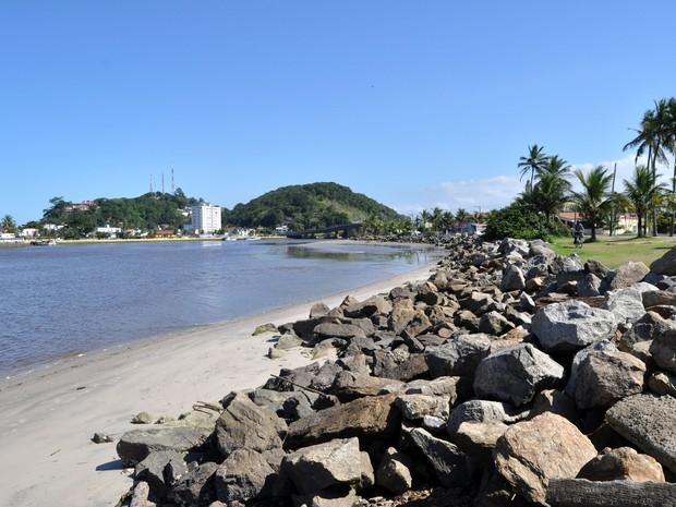 Boca da Barra, em Itanhaém, SP (Foto: Prefeitura de Itanhaém)