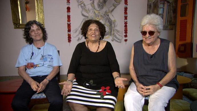 Sara Silveira, Rina Angulo e Arlete Soares contam histórias sobre viagem ao Nepal (Foto: TV Bahia)