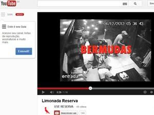 Vídeo da Reserva utilizou imagens do circuito interno de loja assaltada (Foto: Reprodução)