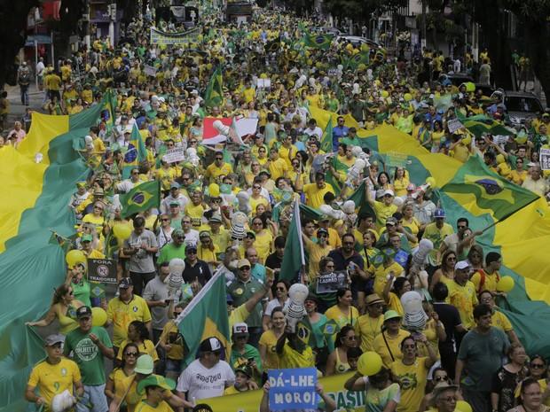 Segundo a organização do evento, cerca de 10 mil pessoas participaram da manifestação em Belém (Foto: Tarso Sarraf/O Liberal)