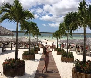 Natacha Horana aproveita viagem ao Nordeste (Foto: Arquivo Pessoal)