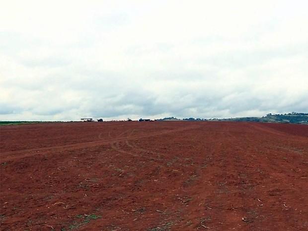 Terreno onde aeroporto será instalado fica em bairro rural de Pouso Alegre (Foto: Reprodução EPTV / Edson Oliveira)