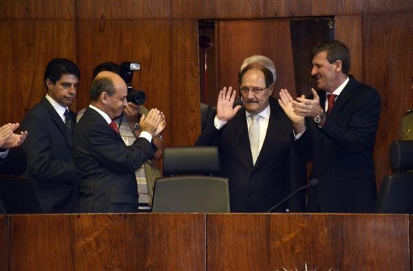 Posse do governador eleito José Ivo Sartori na Assembleia Legislativa (Foto: Mariana Carlesso/Agência ALRS)