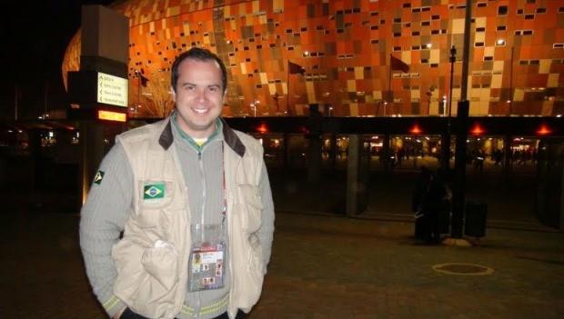 Edmilson foi correspondente durante a Copa do Mundo da África do Sul (Foto: Arquivo Pessoal/Divulgação)