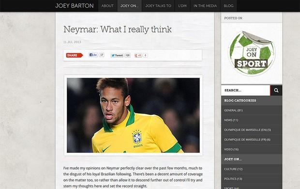 Joey Barton site Neymar comentário (Foto: Reprodução)
