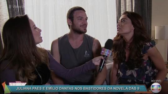 Juliana Paes e Emilio Dantas comentam fuga de Rubinho: 'Marca passagem na trajetória de Bibi'