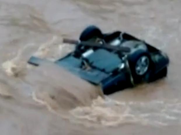 Motorista morreu após carro cair em rio em Jundiaí (Foto: Daiane Vanessa da Cruz/ Arquivo Pessoal)