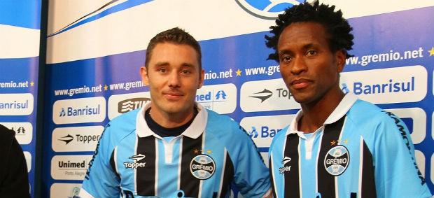 zé roberto fábio aurélio grêmio (Foto: Lucas Uebel/Grêmio FBPA)