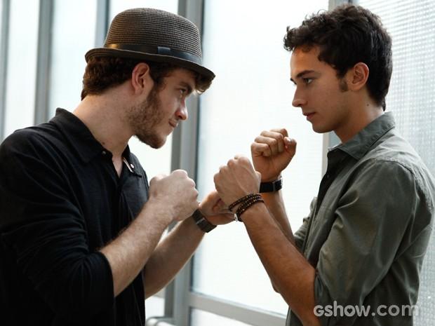 A briga entre Ben e Sidney ajudou no relacionamento fora de cena (Foto: Inácio Moraes / TV Globo)