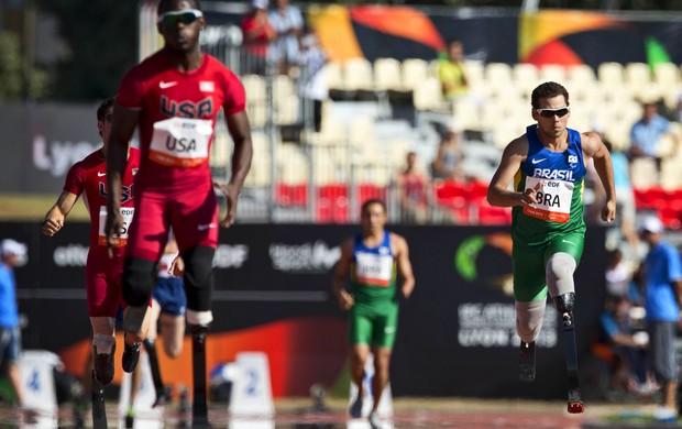 Revezamento 4 x 100 Mundial Paralímpico time brasileiro (Foto: Leonardo Filipo)
