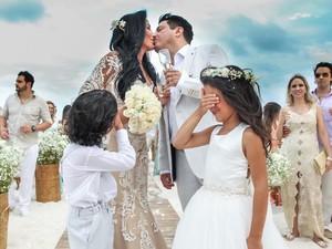 Bruno renova votos de casamento com Marianne Rabelo em Cancún (Foto: Reprodução/Instagram)