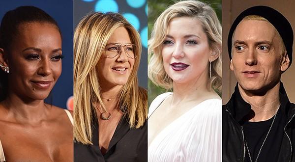 Mel B, Jennifer Aniston, Kate Hudson, Eminem (Foto: Getty Images)