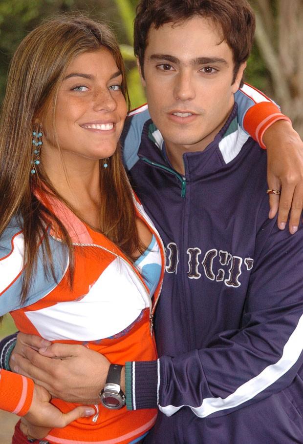 Joana Balaguer e Thiago Rodrigues na época de 'Malhação' (2005)  (Foto: Divulgação TV Globo / João Miguel Junior)