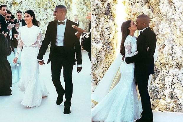 CASAMENTOS - Kim Kardashian e Kanye West - 2014 (Foto: Instagram / Reprodução)