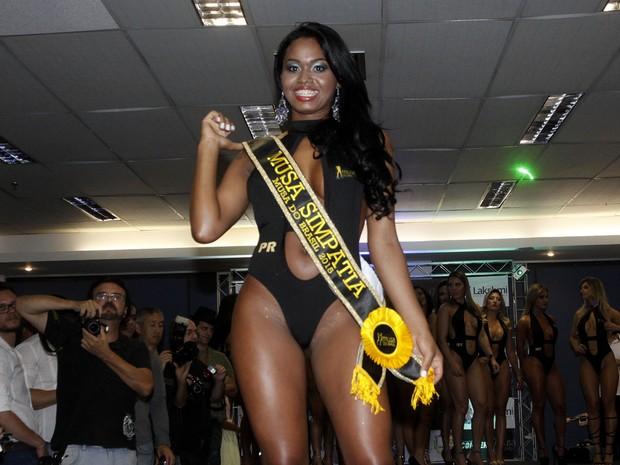 Bruna Walker, do Paraná, é eleita Musa Simpatia no Musa do Brasil em São Paulo (Foto: Celso Tavares/ EGO)
