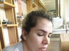 Adriana Sant'Anna aparece sonolenta e Rodrigão brinca: 'Dormiu bem'