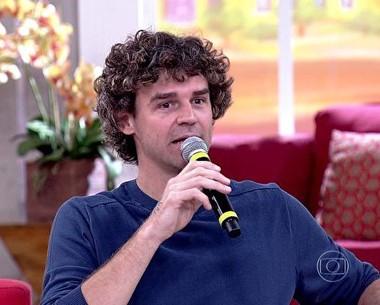 Guga Kuerten relembra pai falecido nas quadras  (Encontro com Fátima Bernardes/TV Globo)