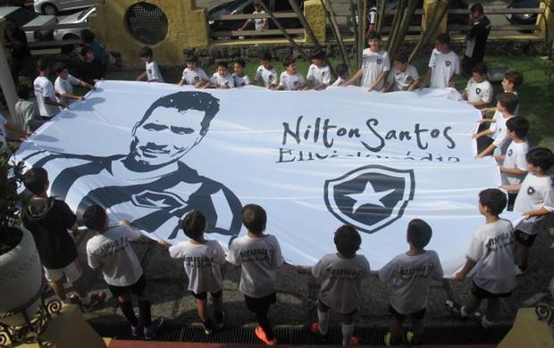 Aniversário homenagem Nilton Santos Botafogo (Foto: André Casado / Globoesporte.com)
