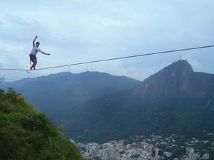 Mistura com Rodaika highline slackline (Foto: Divulgação/Slack Curitiba)