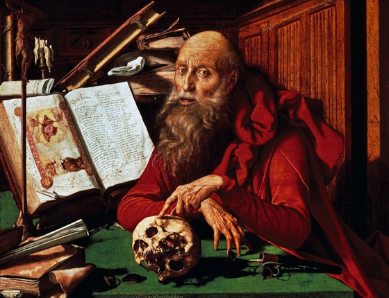 São Jerônimo em seus estudos (1541) do pintor holandês Marinus Van Reymerswaele (Foto: DeAgostini/Getty Images)