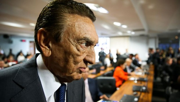 O senador Edison Lobão (PMDB-MA) é eleito presidente da CCJ do Senado (Foto: Marcelo Camargo/Agência Brasil)