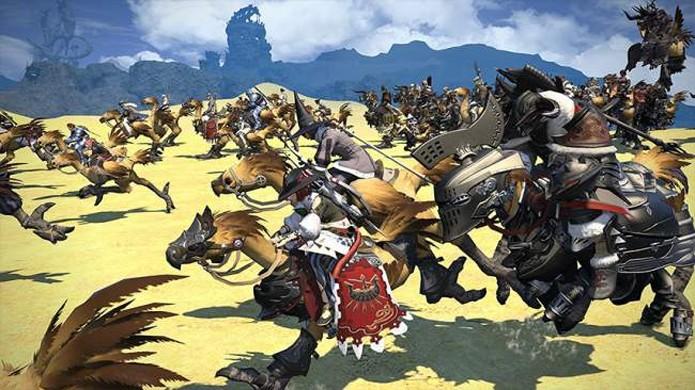 Final Fantasy 14: A Realm Reborn chega agora ao PlayStation 4 (Foto: mmocast.com)
