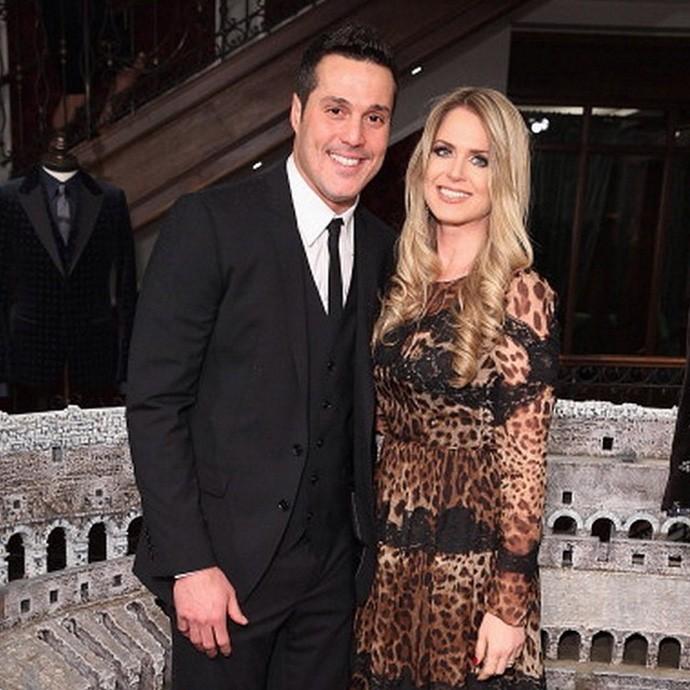 Julio Cesar e a esposa em evento de moda em Londres (Foto: Reprodução / Instagram)