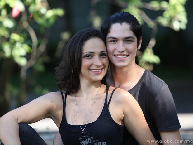 Gabriel e Sabrina namoram há 7 meses  (Foto: Carol Caminha / TV Globo)
