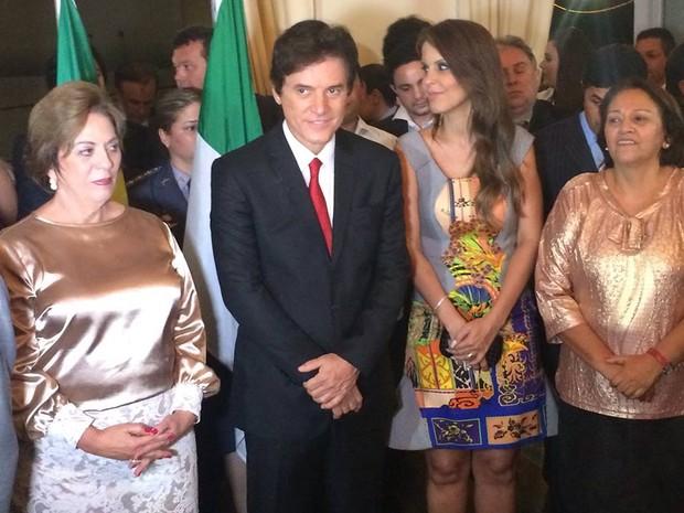 Rosalba Ciarlini transmitiu cargo de chefe do Executivo Estadual para Robinson Faria no RN (Foto: Fernanda Zauli/G1)