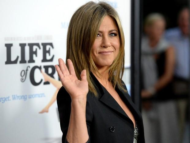 Jennifer Aniston em première de filme em Los Angeles, nos Estados Unidos (Foto: Jason Merritt/ Getty Images/ AFP)