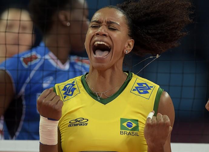 Juciely Brasil vôlei (Foto: Divulgação/FIVB)