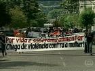 Agricultoras do Rio Grande do Sul protestam por mais qualidade de vida