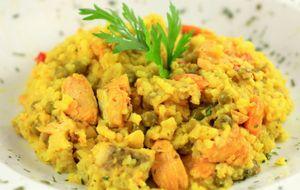 Cuscuz marroquino de legumes com camarão