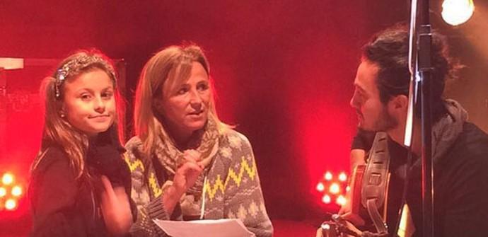 Antes do show, Iorc ensaiou com Rafa e a mamãe Márcia (Foto: Arquivo pessoal)