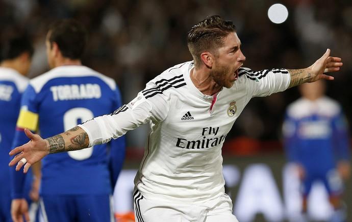 Sergio Ramos, gol Real Madrid x Cruz Azul (Foto: EFE)