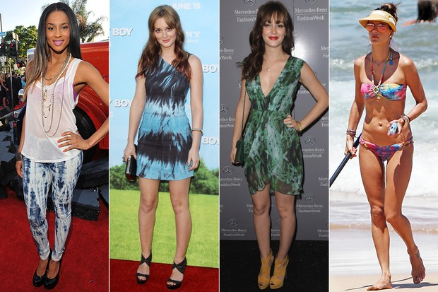 MODA - Tie dye - Ciara, Leighton Meester e Alessandra Ambrósio (Foto: Getty Images | Grosby)