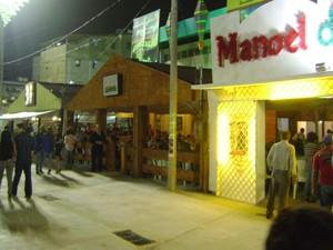 São 150 barracas e 98 quiosques  no espaço do Parque do Povo (Foto: Rafael Melo/G1)