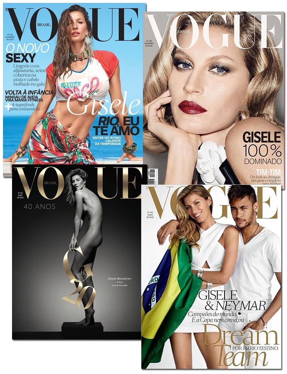 Capas da Vogue Brasil também fazem parte do feed da top no Instagram (Foto: Reprodução/Instagram)