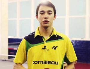 Hugo Calderano, desafio olímpico, tênis de mesa (Foto: Reprodução)
