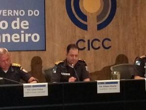 PM anuncia aumento do efetivo nos Jogos (Foto: Henrique Coelho/G1)