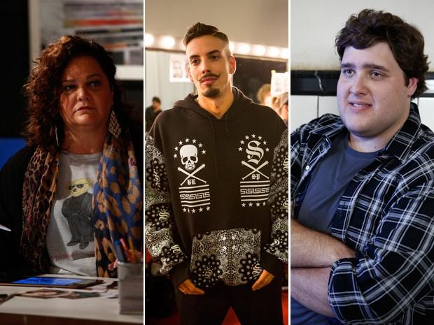 Dica Camero (Lourdeca), Felipe de Carolis (Sam) e Felipe Hintze (Eziel) (Foto: Gshow)