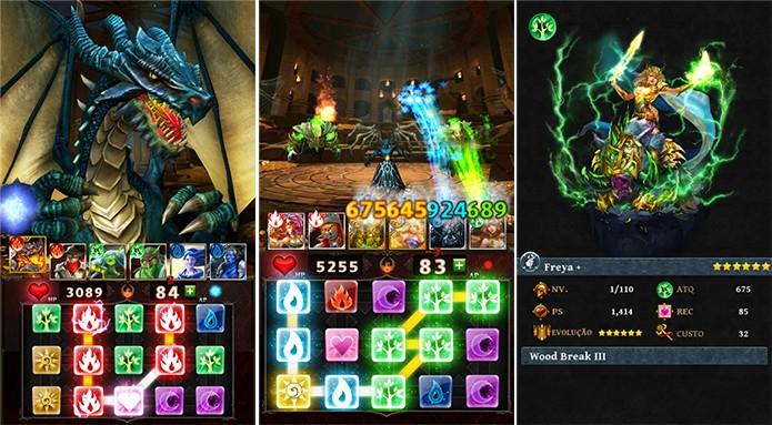 Dugeons Gems é um game que traz uma mistura de RPG e puzzle para Windows Phone (Foto: Reprodução/Windows Phone Store)