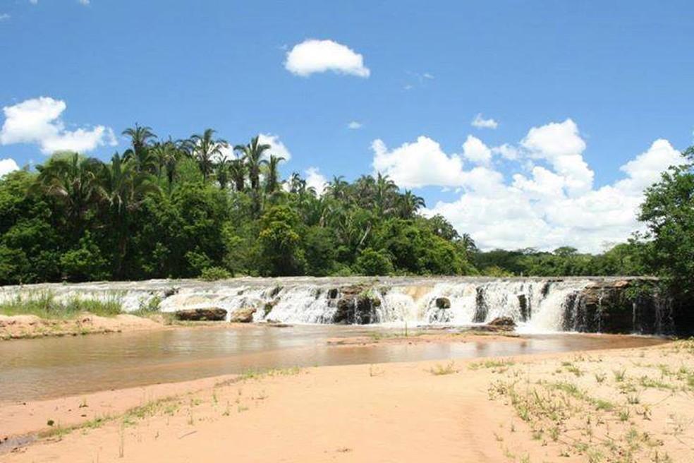 Cachoeira das Palmeiras, um dos locais em Coxim (Foto: Prefeitura de Coxim/Divulgação)