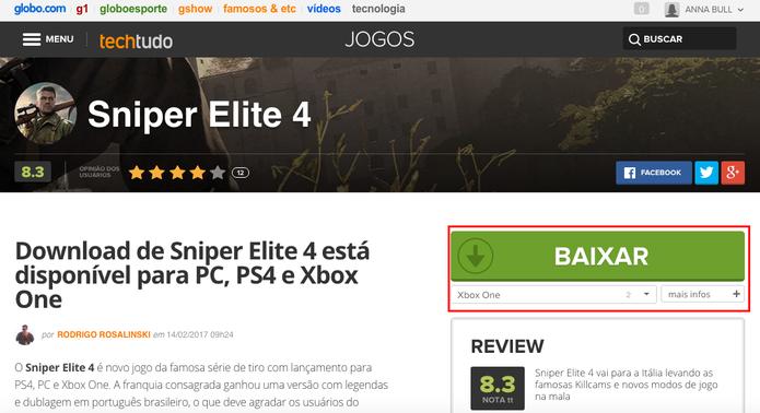 Baixe Sniper Elite 4 para Xbox One (Foto: Reprodução/Anna Kellen Bull)