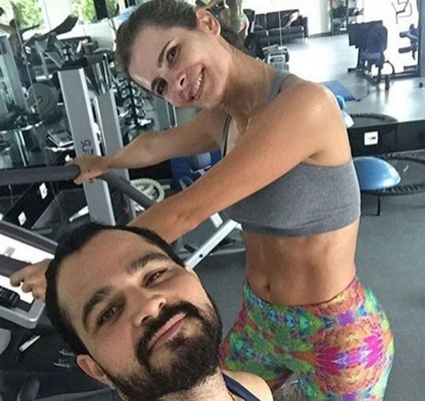 Luciano Camargo e Flávia  (Foto: Reprodução)
