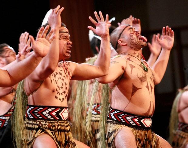 As expressões faciais são um aspecto bastante importante no Haka, no sentido de intimidar e demonstrar ferocidade, além de outras emoções (Foto: Divulgação/Tourism New Zealand/James Heremaia)